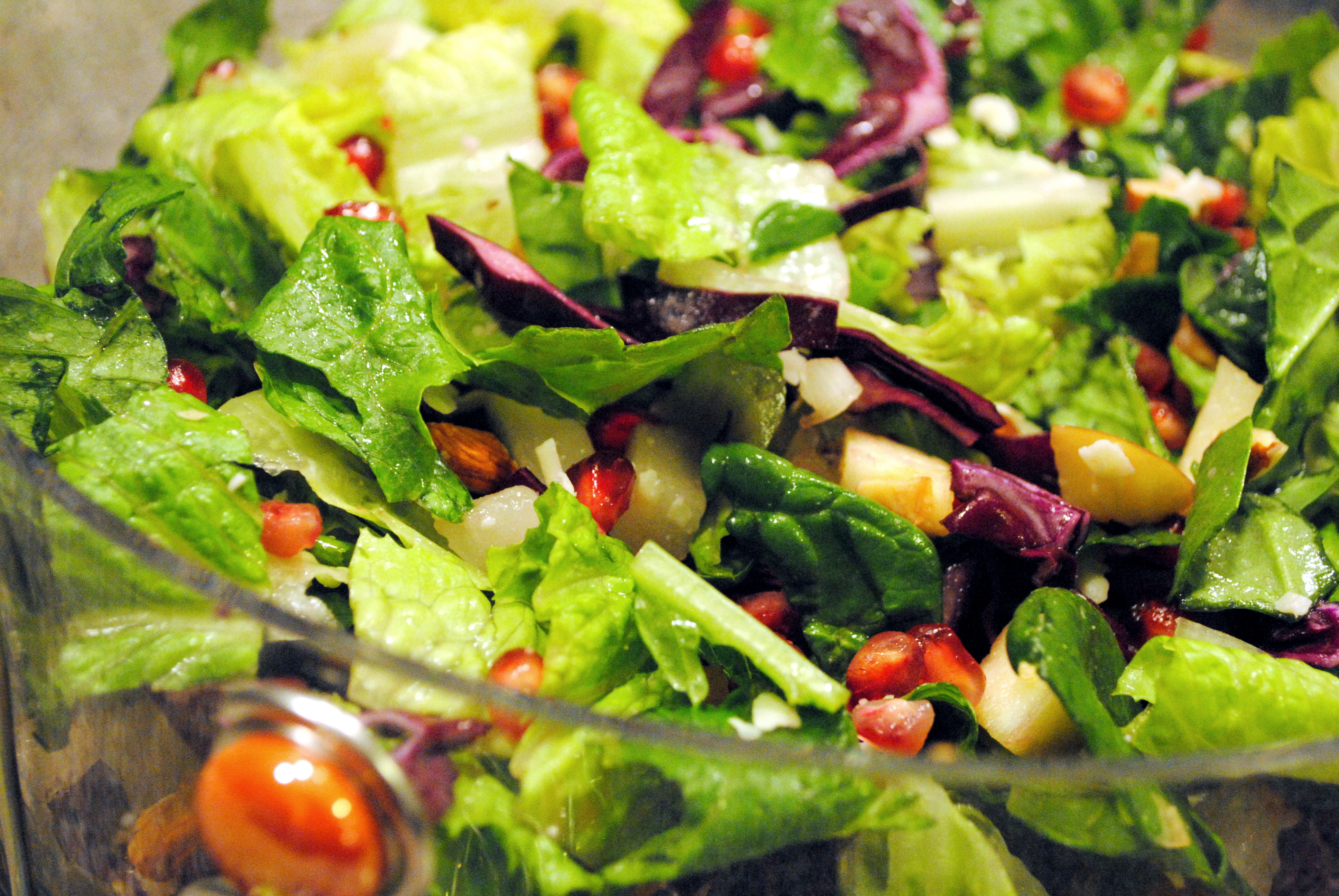 Winter Chopped Salad with Pear, Apple, and Pomegranate