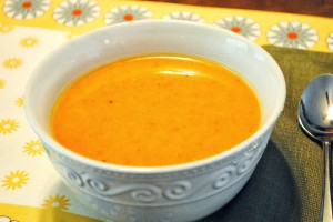 Roasted Butternut Squash Carrot Soup