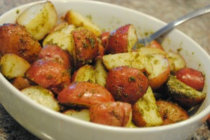 Pesto Roasted Potatoes